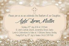Baptism Girl Naming Day Christening Communion Invite Party Invitation Kids