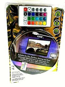 Good Earth USB Self Adhesive 16 Color Tape Light Kit 7 Feet