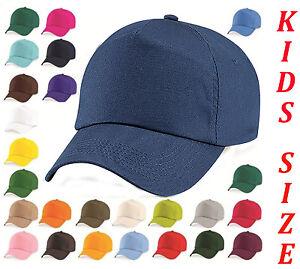 Baseball Cap Adjustable Classic New Cotton Summer Sun 5 Panel Kids Boy Girls Hat