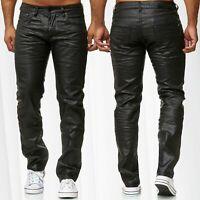Pantalon Jeans Hommes Épilation à la cire Ajustement lâche Couché