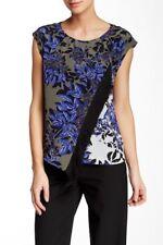 Rebecca Taylor Sleeveless Flame Fringe Silk Blouse (US2) $295