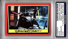 "1983 STAR WARS JAMES EARL JONES Signed ""Darth Vader"" Card PSA/DNA SLABBED"
