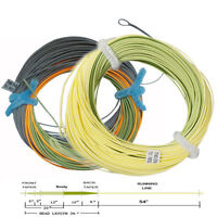 Aventik Weight Forward Floating Trout Fly Fishing Line /&Welded Loop Yellow 95FT