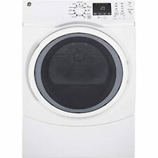 Ge Gfd45Gssmww Front Load Steam Gas Dryer, 7.5 Cu. Ft. Capacity, White,