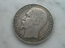 5 francs en argent 1852 A France Paris Louis Napoléon Bonaparte ecu 1