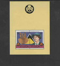 ST. LUCIA  1986   GIRLS GUIDES   MINT VF NH O.G  (ST.L1)  S/S