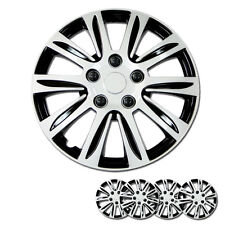 New 15 inch Hubcaps Silver Rim Wheel Covers Hub Cap Full Lug Skin Set For VW 547