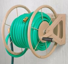 Hose Reel Garden Wall Mount 200 Ft High Capacity Water Steel Lawn Wheel Storage