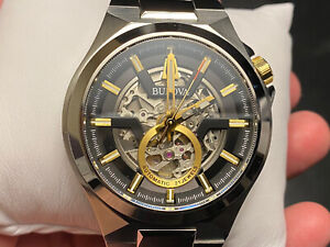 Bulova 98A224 Maquina Black-Skeleton Dial Automatic Men's Watch MSRP $595