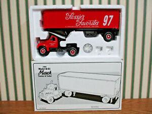 Flossie's Favorites Racing 1960 B-61 Mack Truck With Van Trailer By First Gear