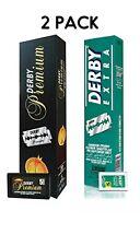 Derby Premium Double Edge Razor Blades,Derby Extra Double Edge 100 Blades Each P