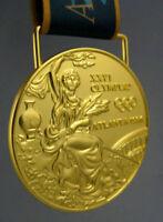 1996 Atlanta Olympic Gold Medal with Silk Ribbons **Free Shipping**