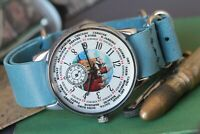POBEDA ZIM Cities Vintage Russian Mens watch Mechanical Soviet watches /Gift