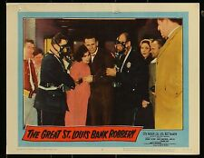 """THE GREAT ST LOUIS BANK ROBBERY Steve McQueen 1959 MOVIE LOBBY CARD 11"""" x 14"""""""