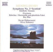 Mendelssohn - Symphony No.3 'Scottish' • 3 Overtures / Slovak Philharmonic