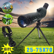 25-75X70 Zoom Spotting Scope 92mm Monocular Telescope Tripod Birdwatching Gift