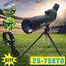 25-75X70 Zoom Spotting Scope 92mm Monocular Telescope Tripod Birdwatching Gift