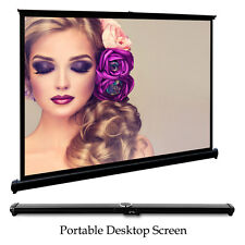 "4:3 HD Projector Projection Screen 50"" Portable Home Theater Video HDMI Movie"