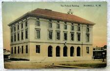 1914 Postcard The Federal Building Roswell New Mexico #87