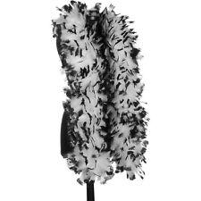 White with Black Tip 150 Gram Turkey Feather Boas - Turkey Ruff - Halloween