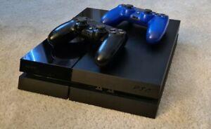 Sony Playstation 4 500GB Konsole + 2 Controller CUH 1116A Gebraucht