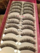 10 Pairs Natural Makeup False Eyelashes Long Messy Thick Cross Eye Beauty Lashes
