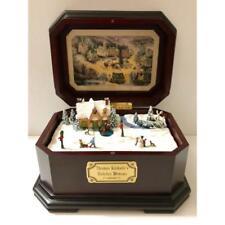THOMAS KINKADE MUSIC BOX - WINTER WONDERLAND CHERY WOOD CASE