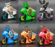 6X Ninjago Motorcycle Set Ninja Mini Figures Building Blocks
