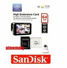 SanDisk High Endurance 64GB 64G Micro SD SDXC Video Monitoring Card Class 10