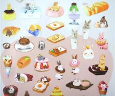 Dessert bunny stickers! Kawaii stickers, planner stickers, cute bunnies, rabbits