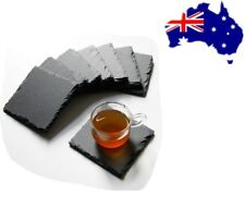 10pcs Coasters Placemats Square Slate Tableware Table Runner Coffee Tea Mat