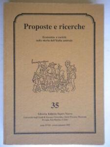 proposte e ricerche economia società nella storia dell'italia centrale 35 nuovo