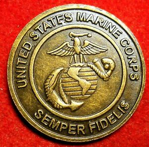 United States Marines Toys for tots medal Teddy Bear w symbol on hat on reverse