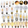Dimmable E27 E14 2/4/6/8W LED Vintage Edison Filament Light Lamp Globe Bulb 220V
