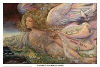 JOSEPHINE WALL ~ NATURE'S GUARDIAN ANGEL 24x36 FANTASY ART POSTER Fine Fairy