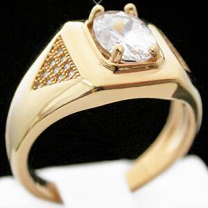 Mens Simulated DIAMOND & MICRO PAVE Diamond 14k GOLD GL Ring Bling | LIFE GUAR