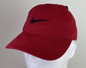 Nike Kids Swoosh Logo Baseball Adjustable Cap/Hat Gym Red 8A2319-R78 Youths Boys