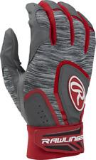 New Rawlings 5150 Baseball Batting Gloves Adult XL Red Gray softball mens Xlarge