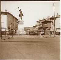 El Puy Estatua De Lafayette Francia Placa De Cristal Estéreo Positive Vintage