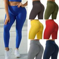 FITTOO Womens Push Up Yoga Pants Anti Cellulite Leggings Sports Gym Fitness A39