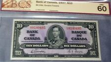 1935 Bank Of Montreal $10 - Bcs Grade 20 - Canada Chartered Banknote Very Fine
