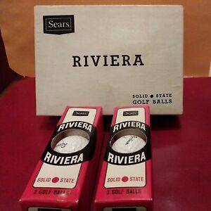 SEARS GOLF BALLS RIVIERA NOS 2 SLEEVES IN MASTER BOX
