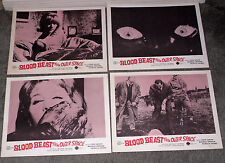 BLOOD BEAST FROM OUTER SPACE/THE NIGHT CALLER original lobby card set JOHN SAXON