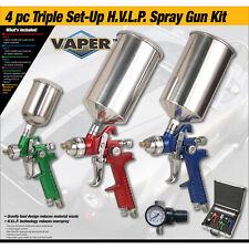 Titan Tools 19221 4pc HVLP Color-Code 3 Gun Kit