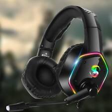 3.5mm K15 Gaming Headset LED MIC Headphones for PC Laptop PS4 Slim Xbox One UK