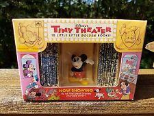 Disneys Tiny Theater 10 Little Little Golden Books Box Set w Mickey Mouse Toy