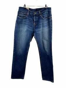 Hollister Men's Denim Jeans Size 32 Blue Casual Button Close with Pockets