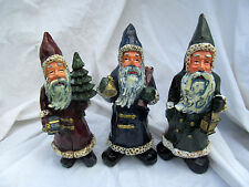 Gnome Santa Claus Miniature Figurine Figure Gift Set Christmas Country Primitive