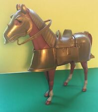 Vintage 1968 LOUIS MARX Noble Knights Horse with Golden Armor