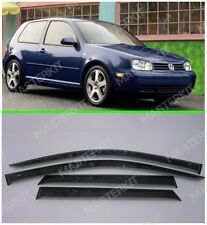 Deflectors For VW Golf 4 IV 3d Windows Visors Rain Vent Guard Sun 1999-2005